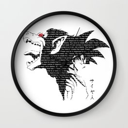 Goku Great Ape Dragon Ball T-Shirt Anime One Piece Death Note One Punch Man Saitama Tokyo Ghoul Wall Clock