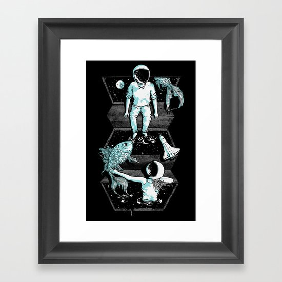 Space Between Framed Art Print