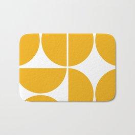 Mid Century Modern Yellow Square Bath Mat