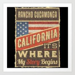 Rancho Cucamonga California Art Print