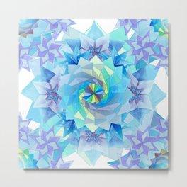 Origami Kaleidoscope Metal Print