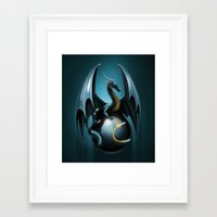 dragon ball Framed Art Prints featuring dragon by Antracit