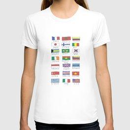 World traveler flags T-shirt