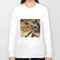 clockwork Long Sleeve T-shirts featuring Clockwork lady by Catherine Mitchell