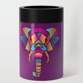 Elephant   Geometric Colorful Low Poly Animal Set Can Cooler
