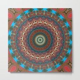 Basal Color Mandala 9 Metal Print