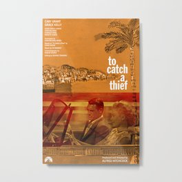 Hitchcock: To Catch A Thief Metal Print