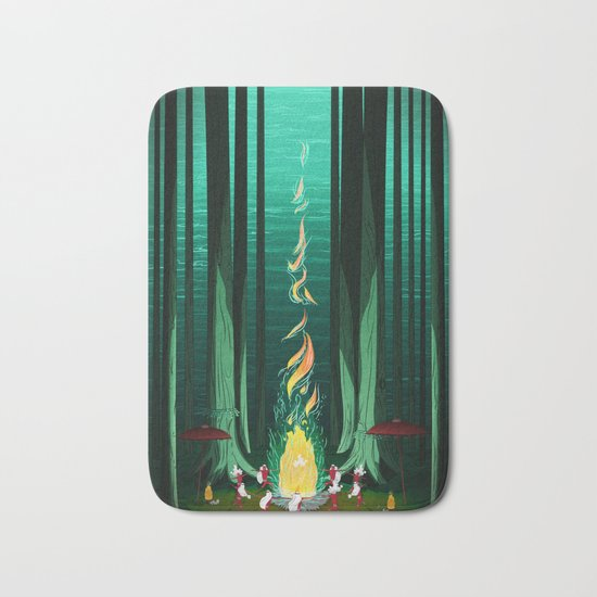 Summer Celebration Bath Mat