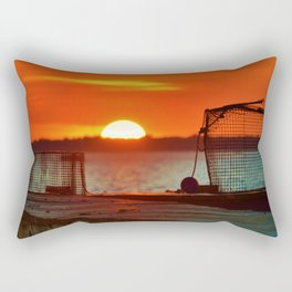 Waiting for Bait Rectangular Pillow