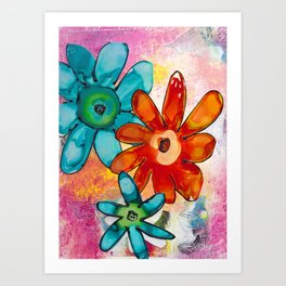 THE BRIGHTEST FLORAL Art Print