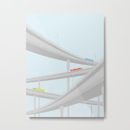 MOTORVEJSKRYDS Metal Print