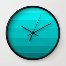 Dark Aqua Turquoise Jeweled Hues - Color Therapy Wall Clock