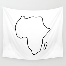 Africa African continent map Wall Tapestry
