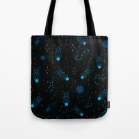 Fireflies Constellations ~ Celestial Blue Tote Bag