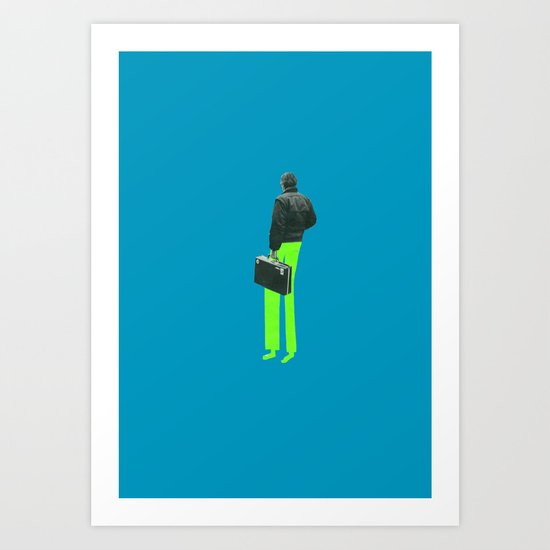 Briefcase man Art Print