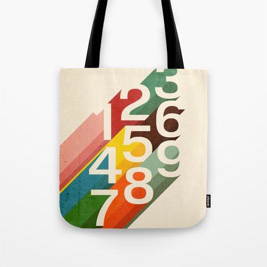 Retro Numbers Tote Bag
