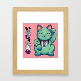 Maneki Neko Kei Framed Art Print