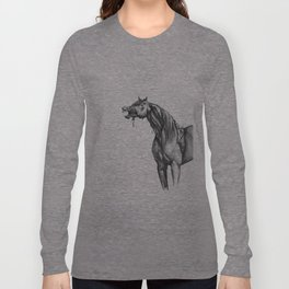 Equine Quietus: The Zombie Horse Long Sleeve T-shirt