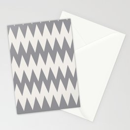 Zigzag Line Pattern Gray and Off White Pantone's Color of the Year 2021 Ultimate Gray & Cloud Dancer Stationery Cards