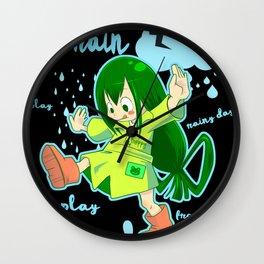 Rainy day black Wall Clock