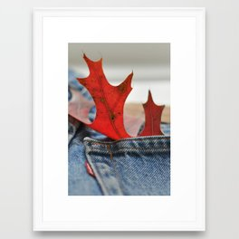 Autumn Levi's Framed Art Print