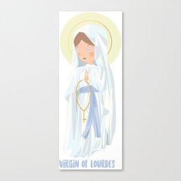 Virgin of Lourdes Canvas Print