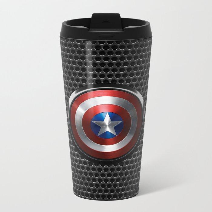 Captain Roger Shield Metal Travel Mug