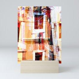 Collage Doors and Windows Mini Art Print