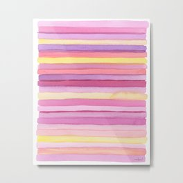 Pink stripes. Metal Print