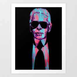 Karl Lagerfeld Portrait Pop Art Print