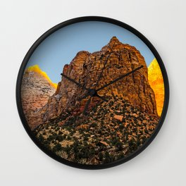 GLOWING EMBERS IN A SUNSET FOR THE DEVAS Wall Clock