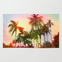 tropical Area & Throw Rugs featuring tropical by mark ashkenazi
