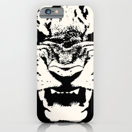 White Tiger Vector iPhone Case