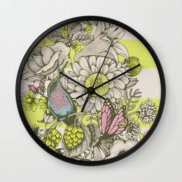 Beauty (eye of the beholder) - striped version Wall Clock