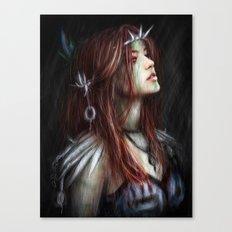 Silver Thorns Canvas Print