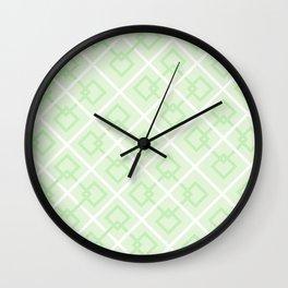 Zesty Green Interlock Cross Pattern Wall Clock