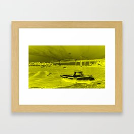Yellow Albert Bridge  Framed Art Print