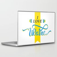 ukraine Laptop & iPad Skins featuring I love Ukraine by Broncos