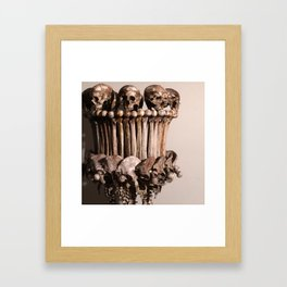 Catacomb Culture - Human Skull Bone Lamp Framed Art Print