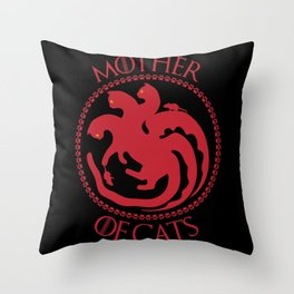 Mother of Cats For Cat Lovers Throw Pillow