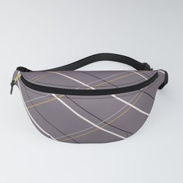 Purple and Gold F Fanny Pack