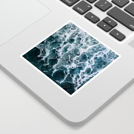 Minimalistic Veins in a Wave  - Seascape Photography Sticker