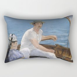 Boating by Edouard Manet Rectangular Pillow