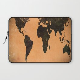 Grungy Abstract World Map Laptop Sleeve