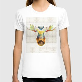 Mystic Moose Art by Sharon Cummings T-shirt