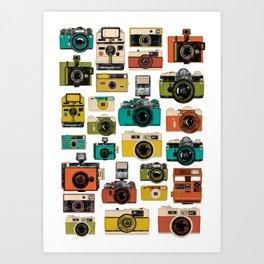 Retro Camera Illustration Art Print