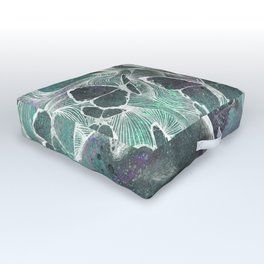 Sugar Coated Sour: Negative (nude curvy pin up with butterflies) Outdoor Floor Cushion