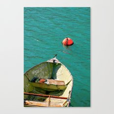 Boat and Blue Waters Canvas Print