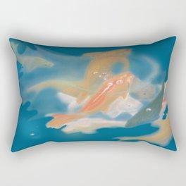 koi {blue} Rectangular Pillow
