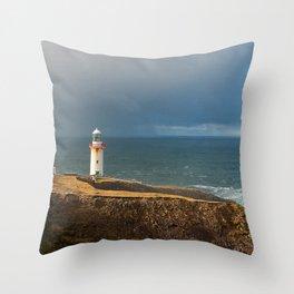 Aronmore Island, Ireland, Lighthouse Throw Pillow